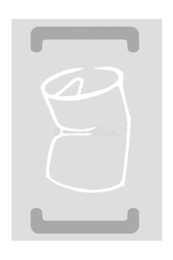 Riciclaggio - metallo royalty illustrazione gratis