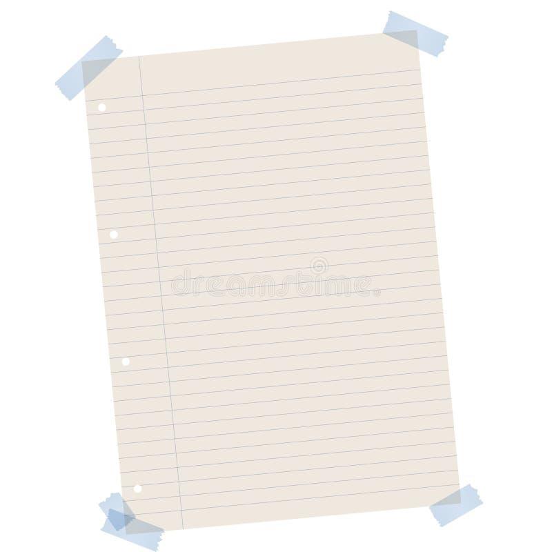 Riciclando carta allineata con nastro adesivo colorato illustrazione di stock