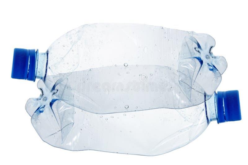 Ricicli il concetto con la bottiglia di acqua di plastica immagine stock libera da diritti