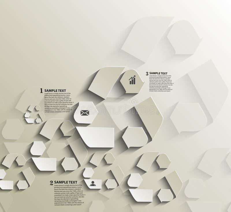 Ricicli la progettazione di Infographics di simbolo illustrazione vettoriale