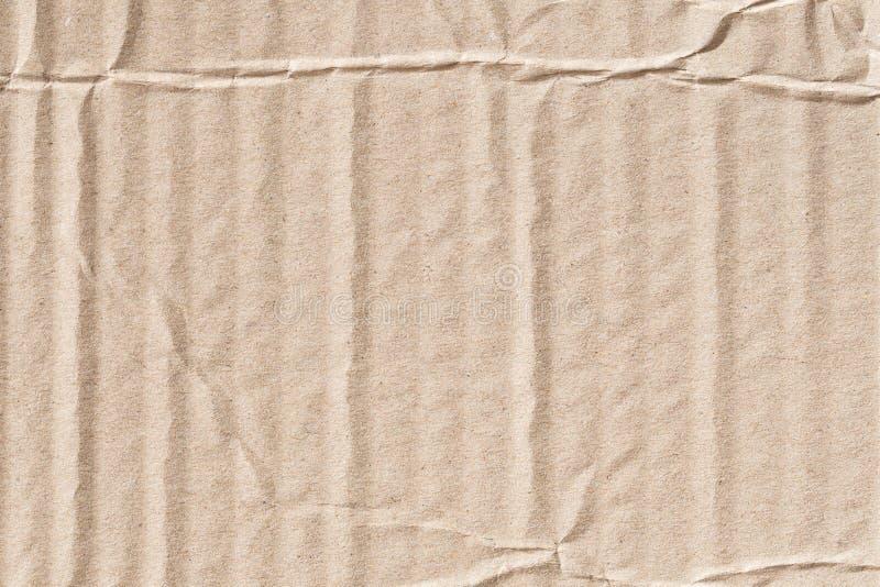 Ricicli la struttura sgualcita della carta marrone, vecchia superficie della carta per backg immagini stock
