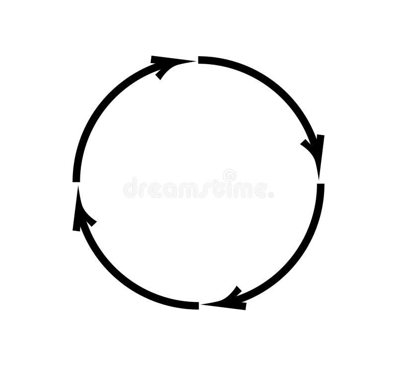 Ricicli le frecce su fondo bianco illustrazione di stock