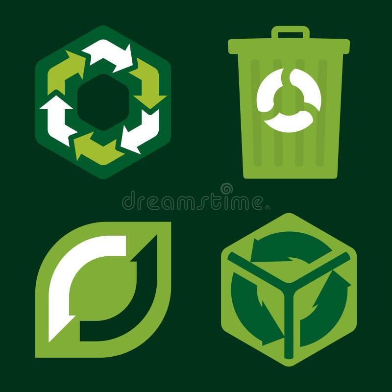 Download Ricicli le icone (vettore) illustrazione vettoriale. Illustrazione di vettore - 3875787