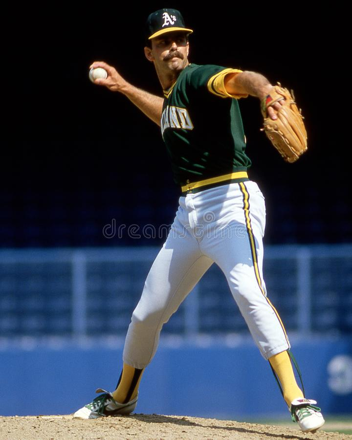 Rick Langford, Oakland Athletics imagem de stock