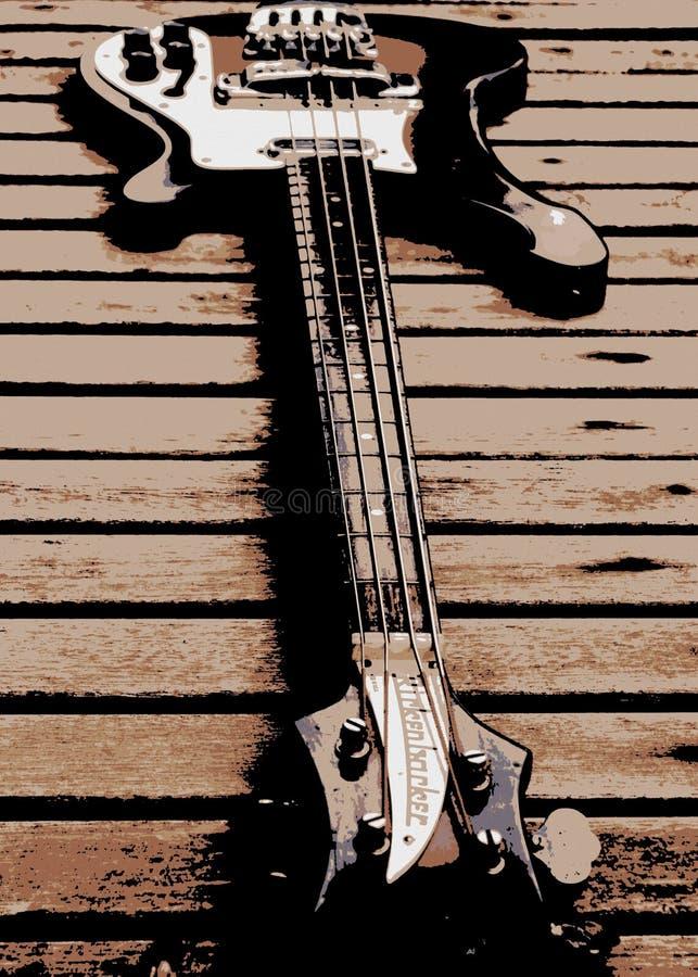 Rickenbacker Bass Guitar royalty-vrije illustratie