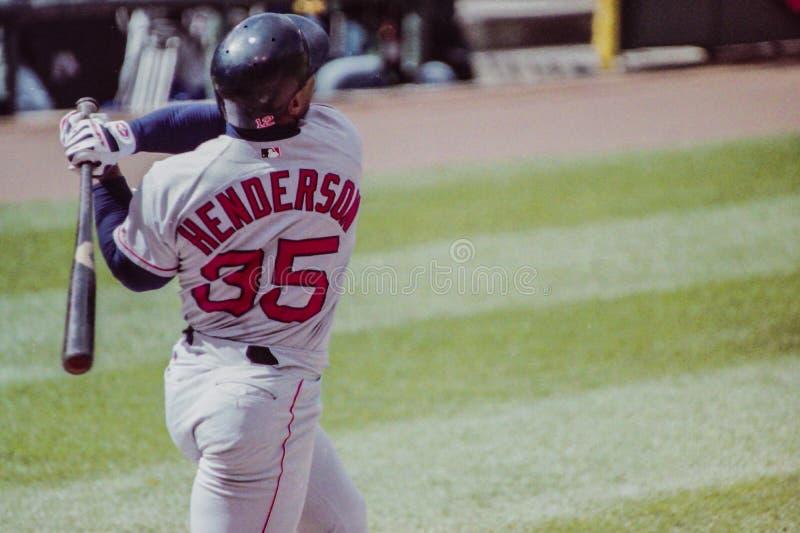 Rickey Henderson Boston Red Sox arkivfoto
