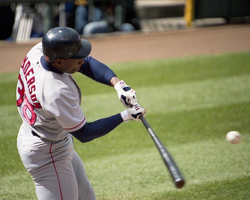 Rickey Henderson Boston Red Sox royaltyfri fotografi