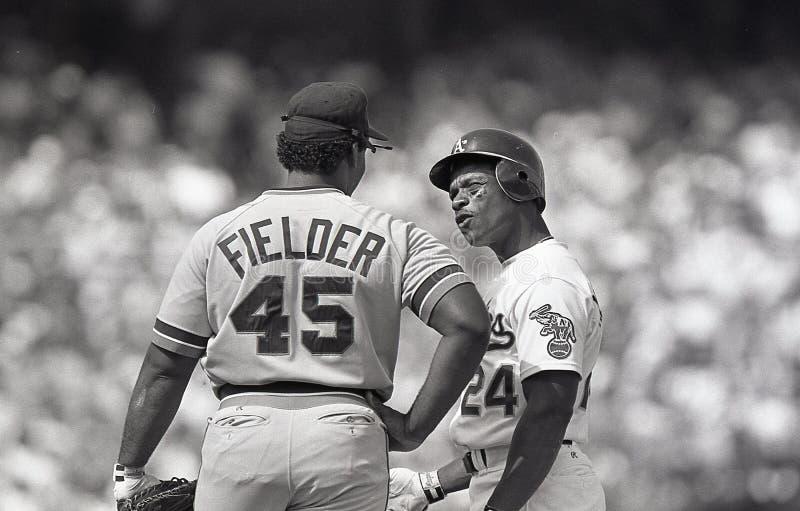 Rickey Henderson i Cecil fielder fotografia stock
