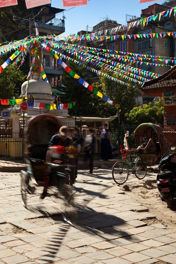 Rickshaw fotografering för bildbyråer