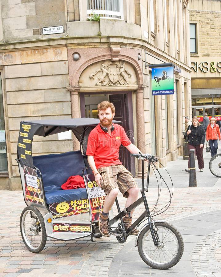 Download Rickshaw Comes To Inverness ! Editorial Stock Photo - Image: 19783158