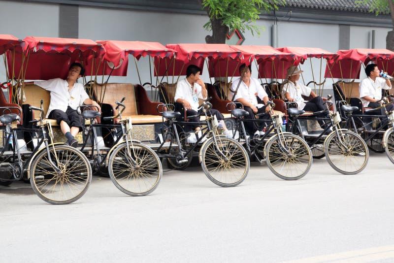 Rickshaw drivers royalty free stock images