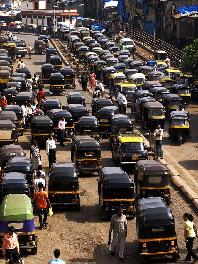 Rickshaw i Mumbai royaltyfria foton