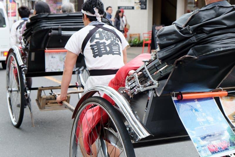 Rickshaw i tokyo arkivbild