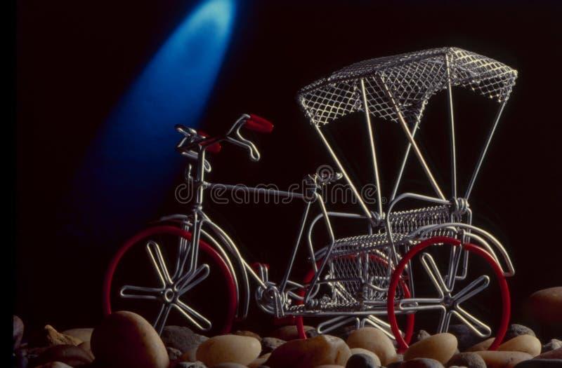 Rickshaw prodotto con un solo cavo immagine stock