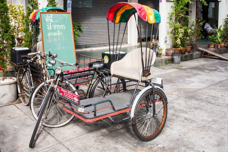 Rickshaw or tricycle royalty free stock photo