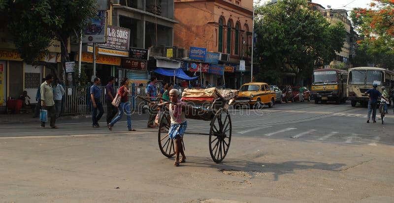 RickshawPuller royaltyfri foto