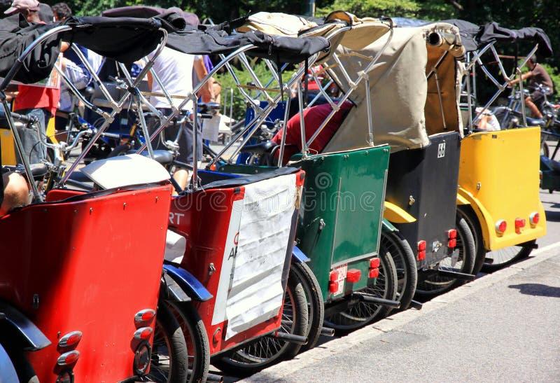 Rickshaws royalty free stock images