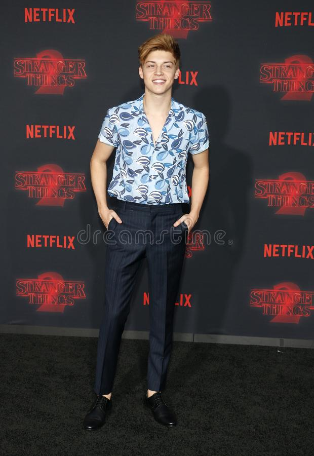 Ricky Garcia. At the Netflix`s season 2 premiere of `Stranger Things` held at the Regency Village Theatre in Westwood, USA on October 26, 2017 royalty free stock images