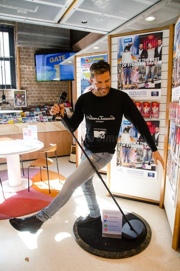 Ricky Martin-het beeldhouwwerk van het wascijfer bij Mevrouw tussauds stock foto's