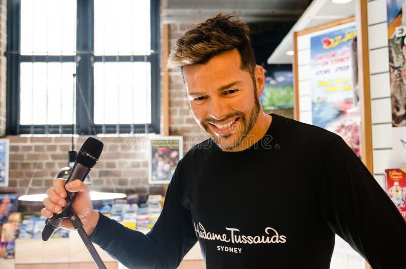 Ricky Martin-Wachsfigurskulptur an Madame tussauds lizenzfreie stockbilder