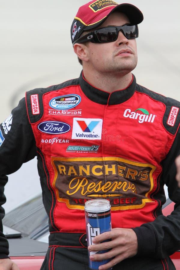 Ricky Stenhouse Jr. at the track stock image