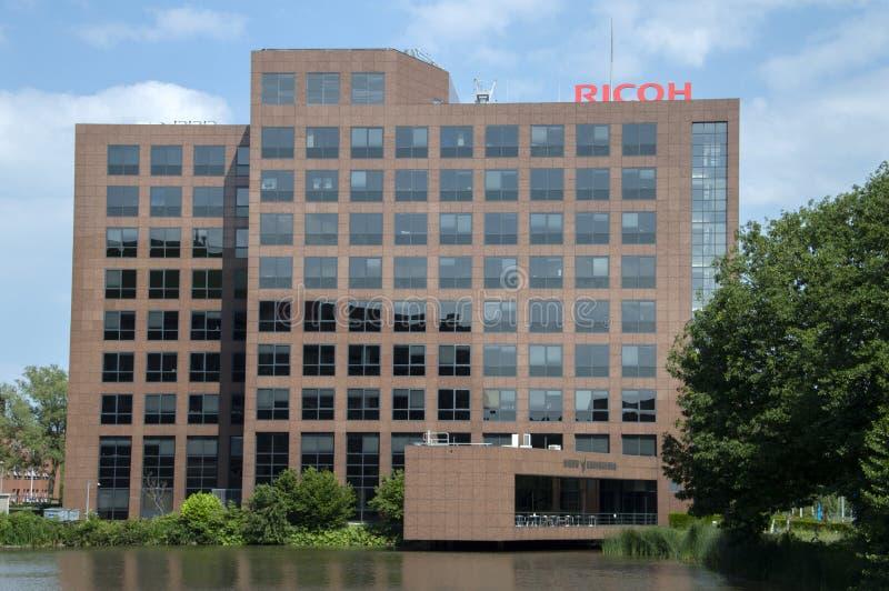 Ricoh Company公司建筑物在阿姆斯特尔芬荷兰2019年 库存图片