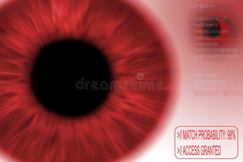 Download Riconoscimento dell'iride illustrazione di stock. Illustrazione di identifichi - 222072