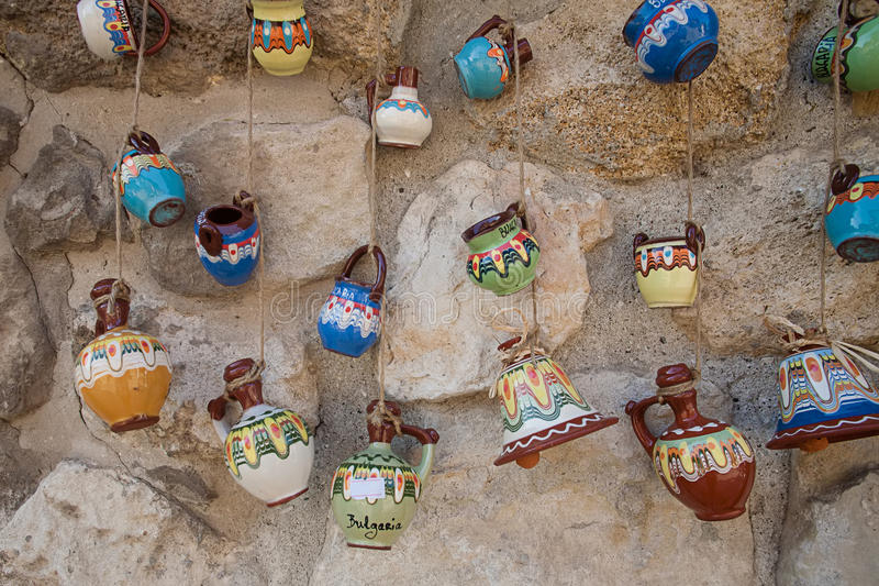 Ricordi ceramici in Bulgaria fotografie stock