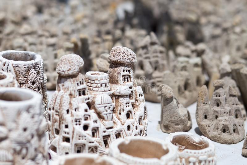 Ricordi leggiadramente del camino, Cappadocia immagini stock