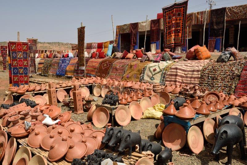 Ricordi tradizionali di berbero da vendere fotografia stock