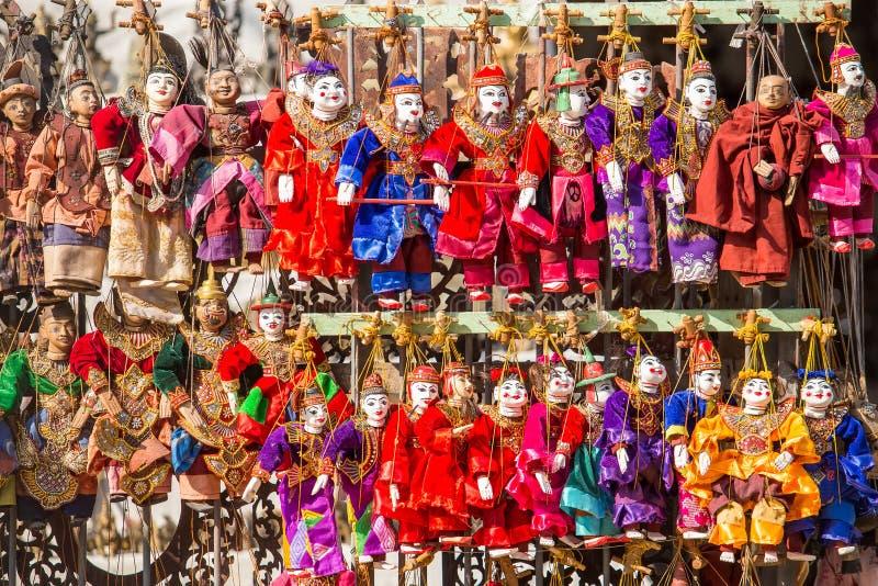Ricordo del burattino, bambole di tradizione del Myanmar immagini stock libere da diritti