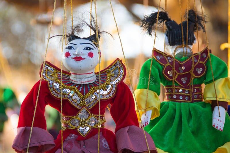Ricordo del burattino di tradizione del Myanmar fotografia stock
