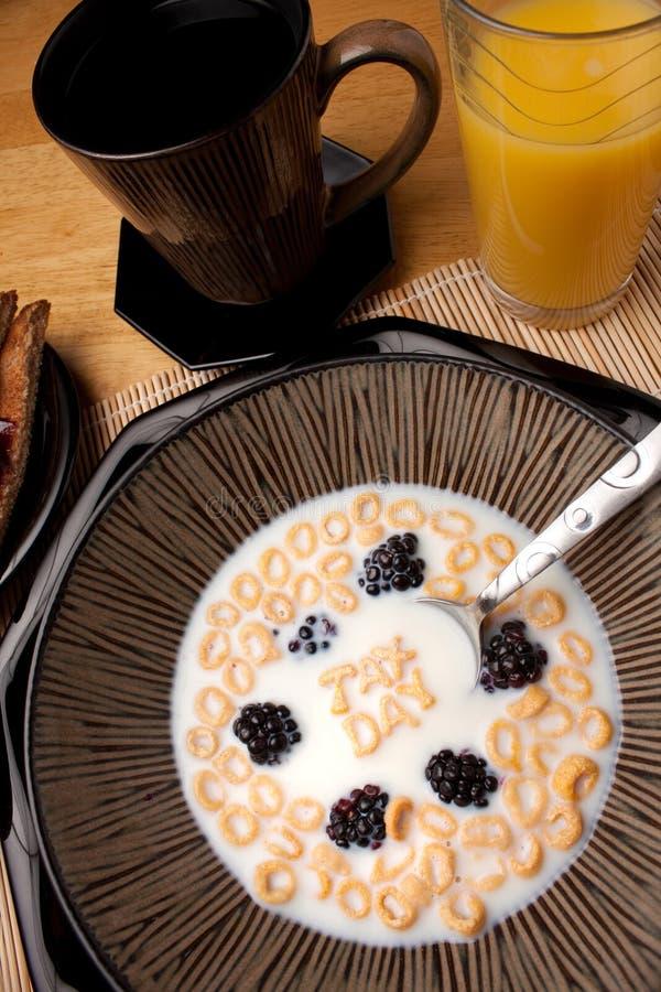 Ricordo del cereale di giorno di imposta immagini stock libere da diritti