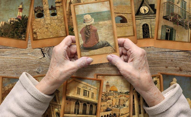 Ricordo dell'Israele Concetto di memoria, di vita e di sogni fotografie stock libere da diritti