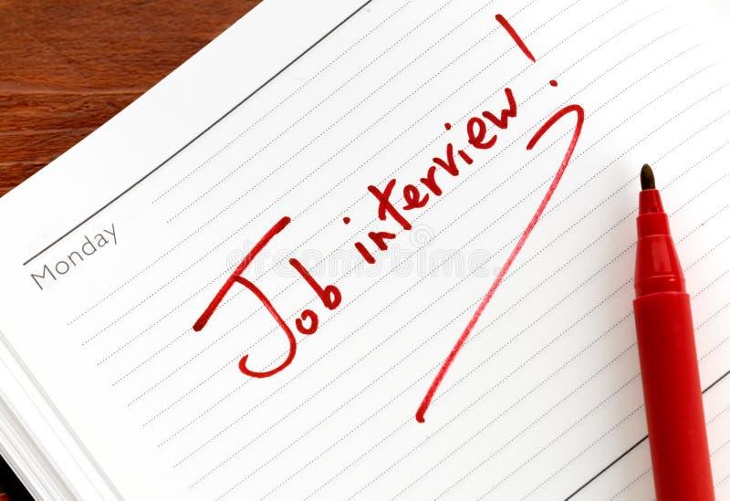 Ricordo di intervista di job fotografie stock