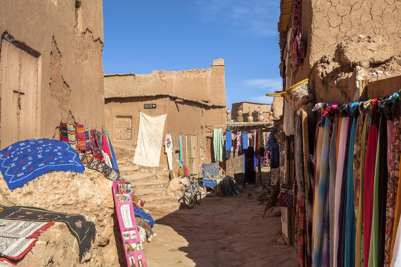 Ricordo in Ksar di AIT-Ben-Haddou, Moroccco fotografie stock