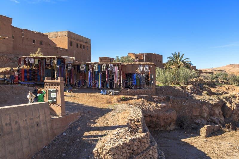 Ricordo in Ksar di AIT-Ben-Haddou, Moroccco fotografia stock libera da diritti