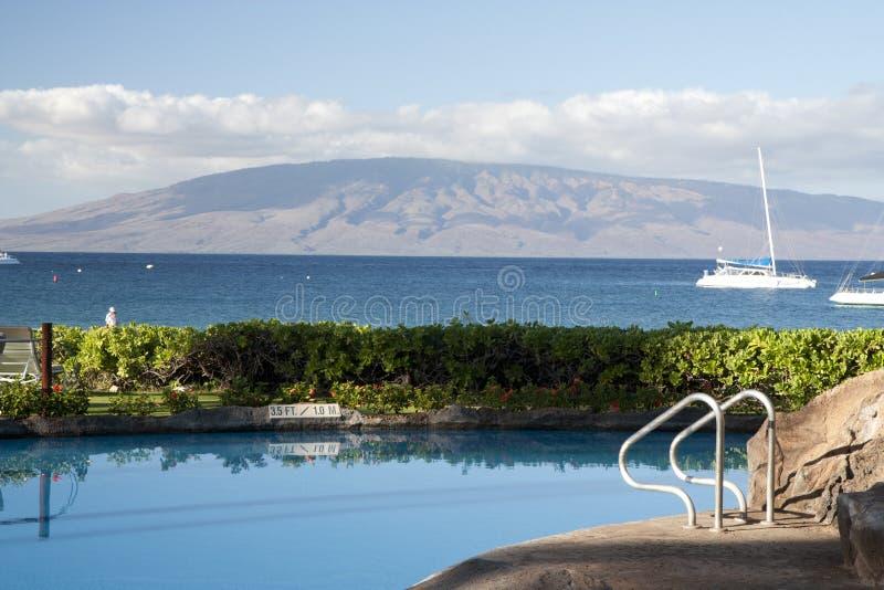 Ricorso dell'hotel sull'Hawai immagini stock libere da diritti
