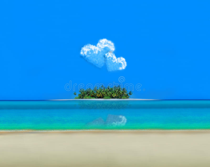 Ricorso di festa dell'atollo fotografia stock libera da diritti