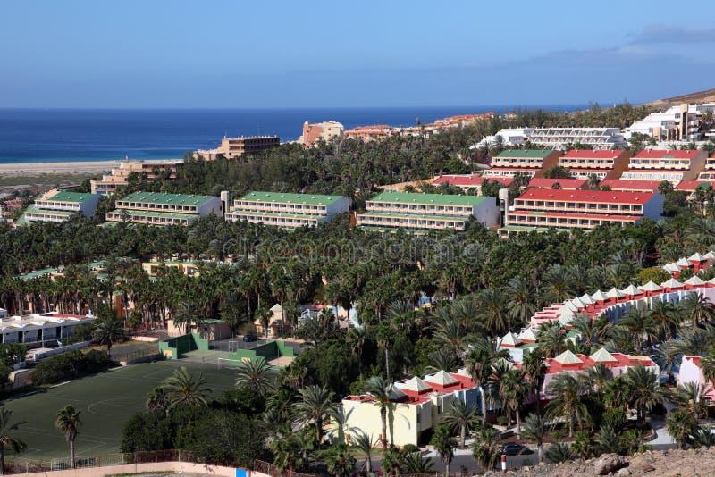 Ricorso di Jandia Playa, Fuerteventura fotografie stock