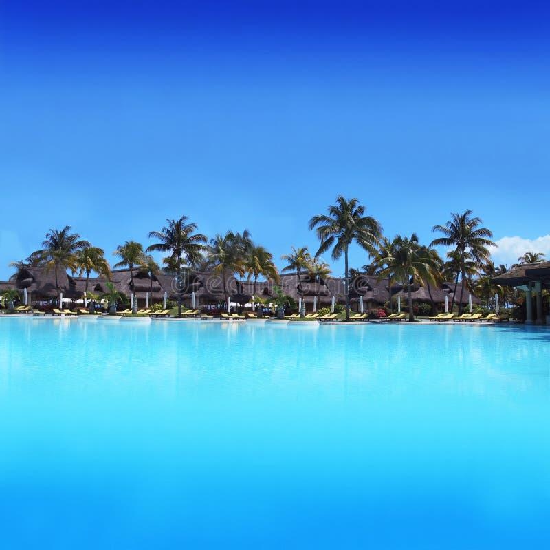 Ricorso di vacanza esotico in Isola Maurizio - in Africa immagini stock libere da diritti
