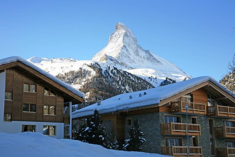 Ricorso svizzero Zermatt immagini stock libere da diritti