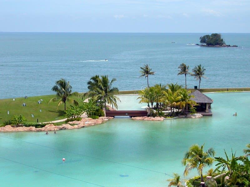 Ricorso tropicale fotografie stock