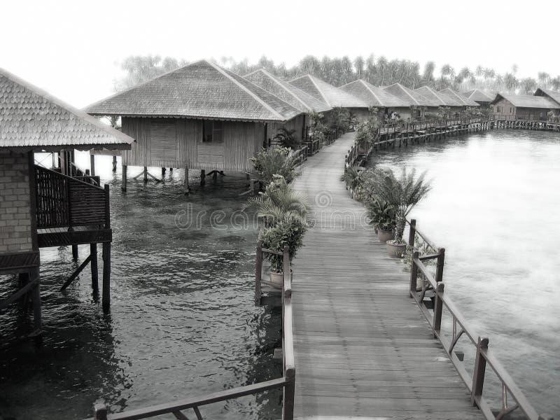 Download Ricorso Vago Del Villaggio Dell'acqua Fotografia Stock - Immagine di bello, palma: 221316