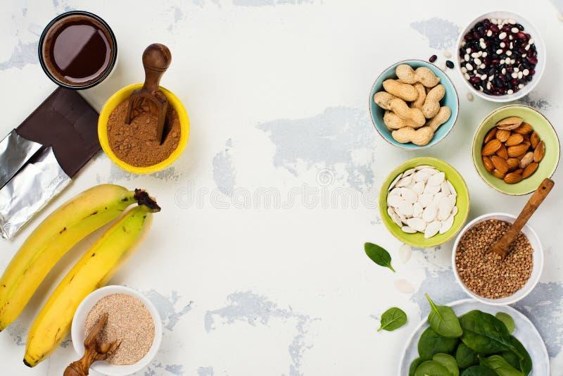 Ricos de la comida del magnesio imagen de archivo libre de regalías