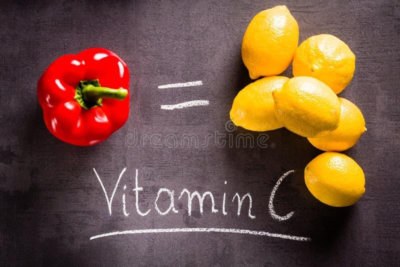Ricos do alimento na vitamina c imagem de stock royalty free