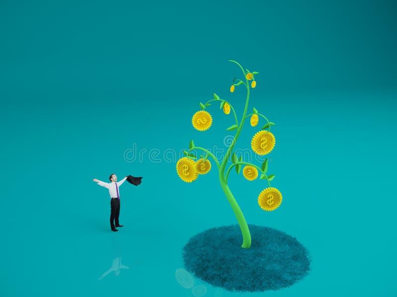 Ricos y concepto del éxito ilustración del vector