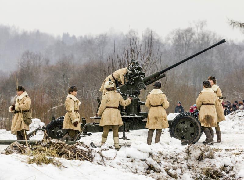 Ricostruzione dell'innovazione dalle truppe sovietiche del Nazi fotografie stock libere da diritti