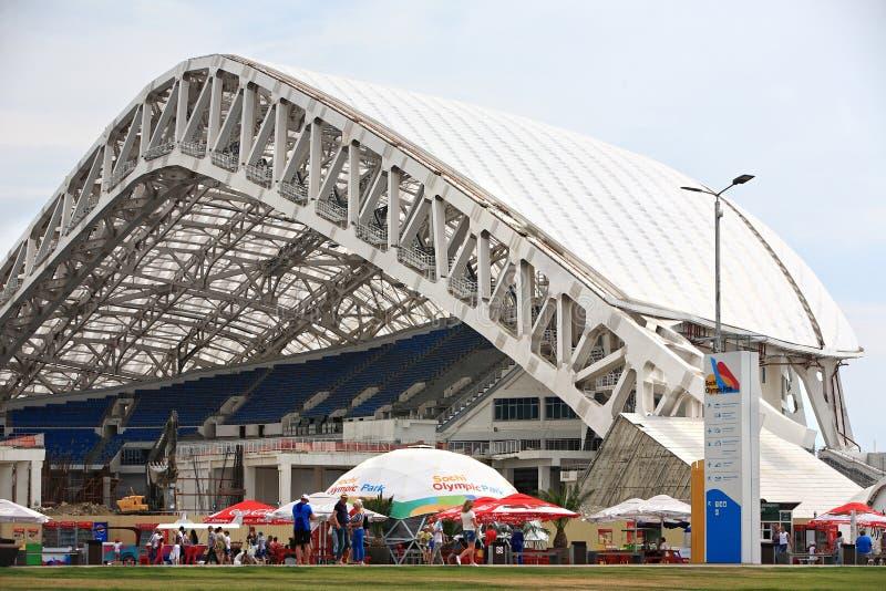 Ricostruzione di Fisht dello stadio in Soci fotografie stock