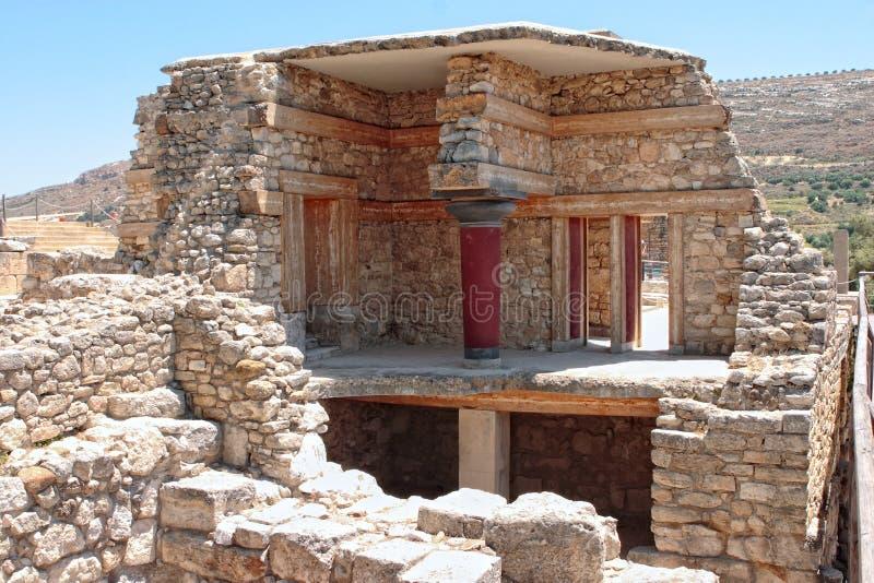 Ricostruzione di Knossos fotografia stock